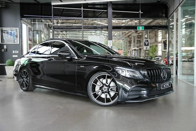Used Mercedes-Benz C-Class W205 809MY C300 9G-Tronic North Melbourne, 2019 Mercedes-Benz C-Class W205 809MY C300 9G-Tronic Black 9 Speed Sports Automatic Sedan
