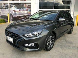 2020 Hyundai i30 PD.V4 MY21 Amazon Gray 6 Speed Sports Automatic Hatchback.