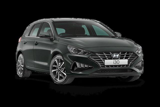 Demo Hyundai i30 PD.V4 MY21 Active Hamilton, 2021 Hyundai i30 PD.V4 MY21 Active Amazon Gray 6 Speed Sports Automatic Hatchback