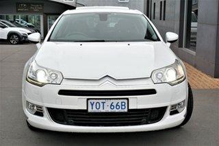 2012 Citroen C5 X7 MY12 Attraction White 6 Speed Sports Automatic Sedan.