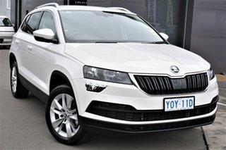 2020 Skoda Karoq NU MY21 110TSI FWD White 8 Speed Automatic Wagon.