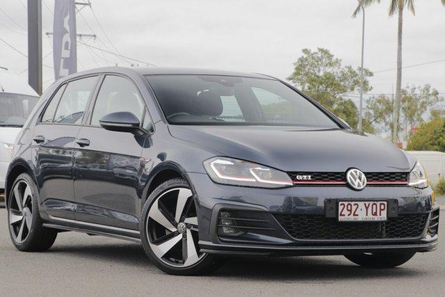 Used Volkswagen Golf 7.5 MY18 GTI DSG Rocklea, 2018 Volkswagen Golf 7.5 MY18 GTI DSG Indium Grey 6 Speed Sports Automatic Dual Clutch Hatchback