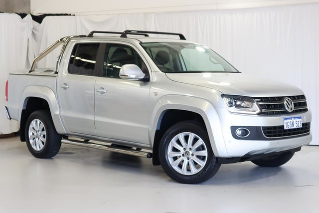 Used Volkswagen Amarok 2H MY16 TDI420 4Motion Perm Highline Wangara, 2016 Volkswagen Amarok 2H MY16 TDI420 4Motion Perm Highline Silver 8 Speed Automatic Utility