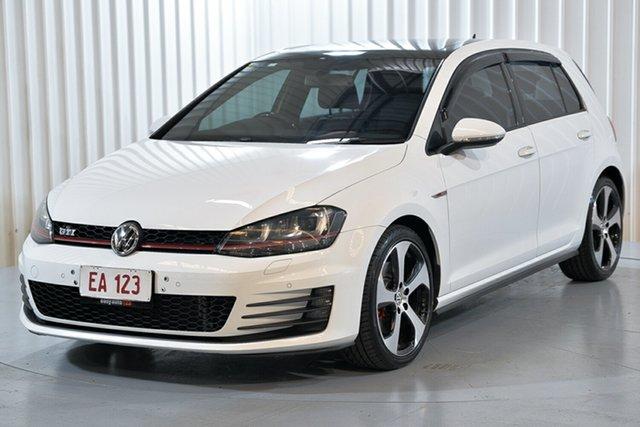 Used Volkswagen Golf VII MY16 GTI DSG Hendra, 2015 Volkswagen Golf VII MY16 GTI DSG White 6 Speed Sports Automatic Dual Clutch Hatchback