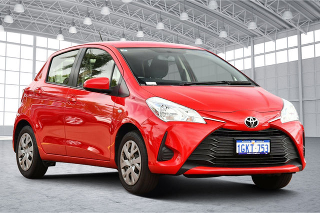 Used Toyota Yaris NCP130R Ascent Victoria Park, 2017 Toyota Yaris NCP130R Ascent Red 4 Speed Automatic Hatchback
