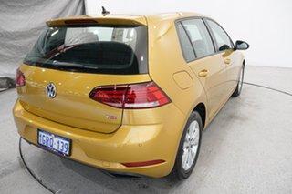 2017 Volkswagen Golf 7.5 MY18 110TSI DSG Trendline Yellow 7 Speed Sports Automatic Dual Clutch
