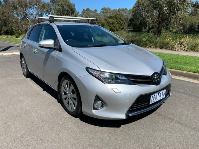 Used Toyota Corolla ZRE182R Levin ZR Geelong, 2013 Toyota Corolla ZRE182R Levin ZR Silver 7 Speed Constant Variable Hatchback