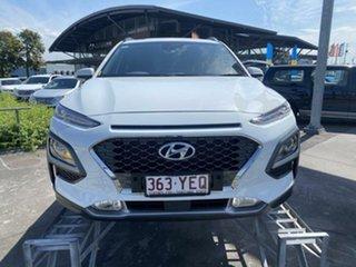 2017 Hyundai Kona OS MY18 Elite 2WD White 6 Speed Sports Automatic Wagon.