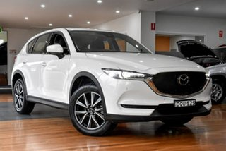 2017 Mazda CX-5 KF4WLA Akera SKYACTIV-Drive i-ACTIV AWD White 6 Speed Sports Automatic Wagon.