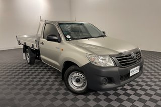 2013 Toyota Hilux TGN16R MY14 Workmate 4x2 Silver 5 speed Manual Cab Chassis.