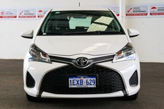 2015 Toyota Yaris NCP130R MY15 Ascent Glacier White 5 Speed Manual Hatchback