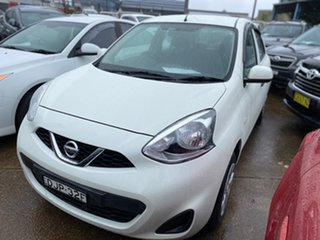 2016 Nissan Micra K13 Series 4 MY15 ST White 4 Speed Automatic Hatchback