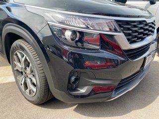 2021 Kia Seltos SP2 MY22 Sport+ 2WD Cherry Black 1 Speed Constant Variable Wagon.