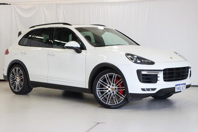 Used Porsche Cayenne 92A MY15 Turbo Tiptronic Wangara, 2015 Porsche Cayenne 92A MY15 Turbo Tiptronic White 8 Speed Sports Automatic Wagon