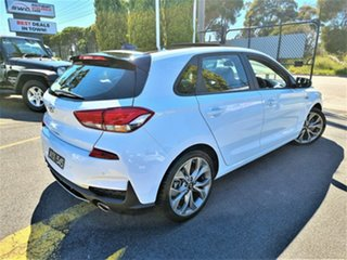 2018 Hyundai i30 PD.3 MY19 N Line D-CT White 7 Speed Sports Automatic Dual Clutch Hatchback.