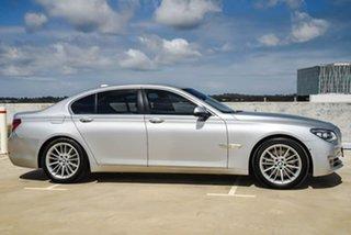 2014 BMW 7 Series F01 LCI 730d Steptronic Silver, Chrome 8 Speed Sports Automatic Sedan.
