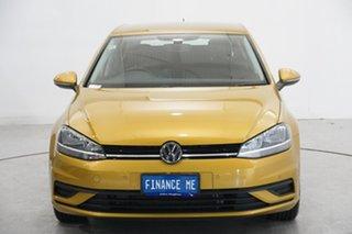 2017 Volkswagen Golf 7.5 MY18 110TSI DSG Trendline Yellow 7 Speed Sports Automatic Dual Clutch.