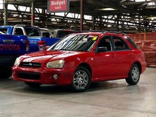 2003 Subaru Impreza S MY03 GX AWD Red 4 Speed Automatic Hatchback.