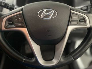 2017 Hyundai Accent RB6 MY18 Sport White 6 Speed Sports Automatic Hatchback