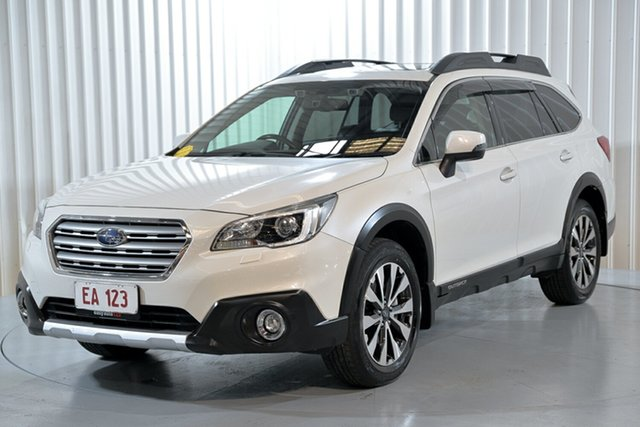 Used Subaru Outback B6A MY17 2.5i CVT AWD Premium Hendra, 2017 Subaru Outback B6A MY17 2.5i CVT AWD Premium White 6 Speed Constant Variable Wagon