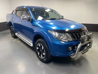 2016 Mitsubishi Triton MQ MY17 Exceed Double Cab Blue 5 Speed Sports Automatic Utility.