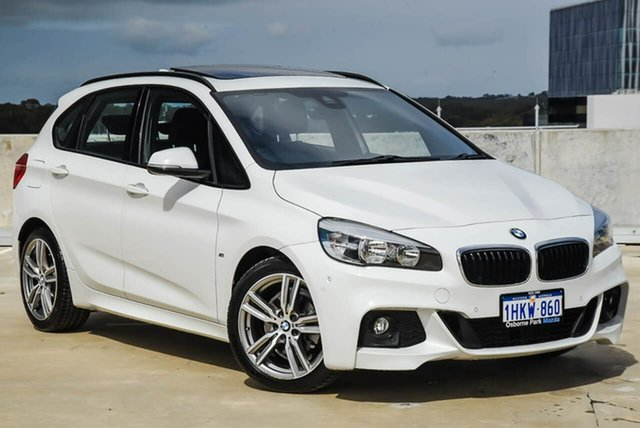 Used BMW 2 Series F45 218d Active Tourer Steptronic M Sport Osborne Park, 2016 BMW 2 Series F45 218d Active Tourer Steptronic M Sport White 8 Speed Automatic Hatchback