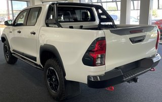 2018 Toyota Hilux GUN126R Rugged X Double Cab White 6 Speed Sports Automatic Utility