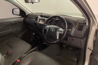 2013 Toyota Hilux TGN16R MY14 Workmate 4x2 Silver 5 speed Manual Cab Chassis