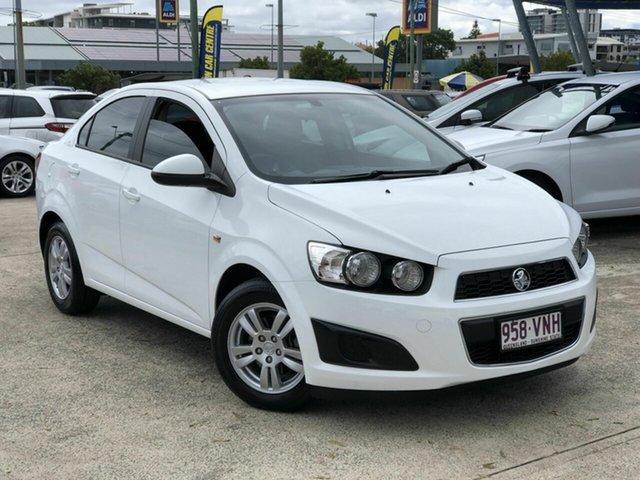 Used Holden Barina TM MY15 CD Chermside, 2014 Holden Barina TM MY15 CD White 6 Speed Automatic Sedan