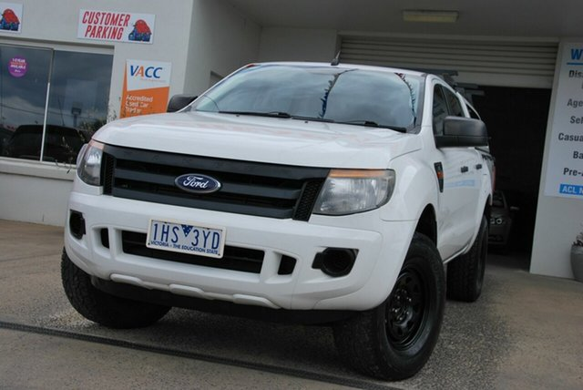 Used Ford Ranger PX XL 3.2 (4x4) Wendouree, 2014 Ford Ranger PX XL 3.2 (4x4) White 6 Speed Automatic Double Cab Pick Up