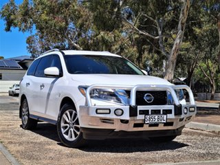 2013 Nissan Pathfinder R52 MY14 ST X-tronic 4WD White 1 Speed Constant Variable Wagon.