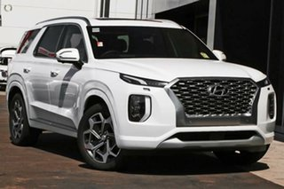 2021 Hyundai Palisade LX2.V2 MY22 Highlander 2WD White Cream 8 Speed Sports Automatic Wagon.