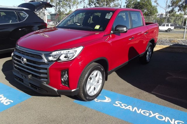 New Ssangyong Musso Q215 MY21 ELX Crew Cab South Gladstone, 2021 Ssangyong Musso Q215 MY21 ELX Crew Cab Red 6 Speed Sports Automatic Utility