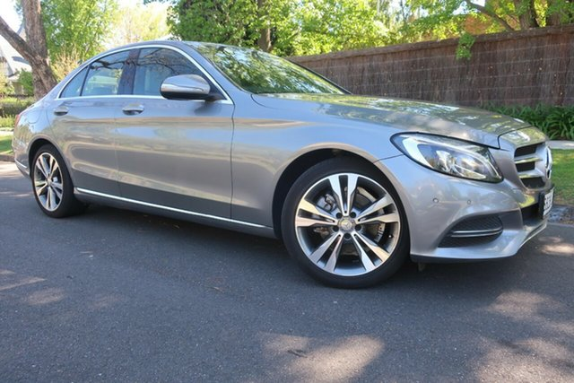 Used Mercedes-Benz C-Class W205 C200 7G-Tronic + Prospect, 2014 Mercedes-Benz C-Class W205 C200 7G-Tronic + Grey 7 Speed Sports Automatic Sedan