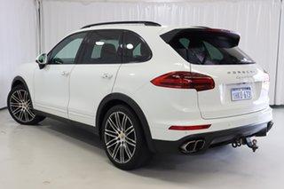 2015 Porsche Cayenne 92A MY15 Turbo Tiptronic White 8 Speed Sports Automatic Wagon.