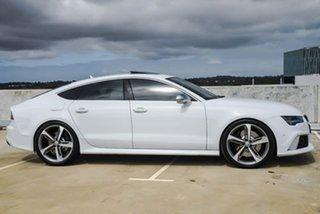 2015 Audi RS 7 4G MY15 Sportback Tiptronic Quattro White 8 Speed Sports Automatic Hatchback.