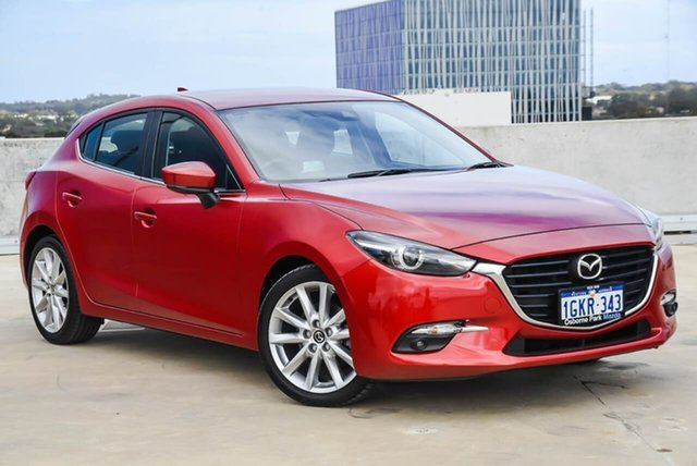 Used Mazda 3 BN5438 SP25 SKYACTIV-Drive GT Osborne Park, 2017 Mazda 3 BN5438 SP25 SKYACTIV-Drive GT Red 6 Speed Sports Automatic Hatchback