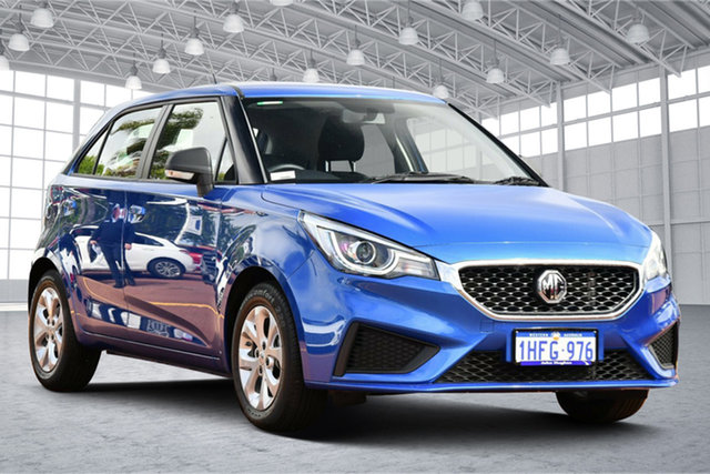 Used MG MG3 SZP1 MY21 Core Victoria Park, 2021 MG MG3 SZP1 MY21 Core Regal Blue 4 Speed Automatic Hatchback
