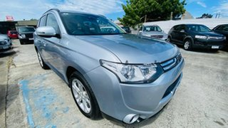 2013 Mitsubishi Outlander ZJ MY14 LS 4WD Silver 6 Speed Sports Automatic Wagon.