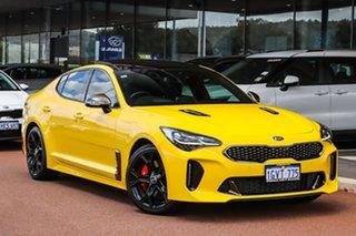 2018 Kia Stinger CK MY18 GT Fastback Yellow 8 Speed Sports Automatic Sedan.