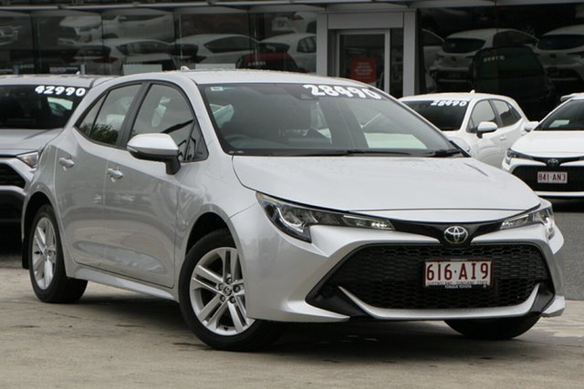 Used Toyota Corolla Mzea12R Ascent Sport North Lakes, 2020 Toyota Corolla Mzea12R Ascent Sport Silver Pearl 10 Speed Constant Variable Hatchback