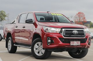 2019 Toyota Hilux GUN126R SR Double Cab Olympia Red 6 Speed Sports Automatic Utility.