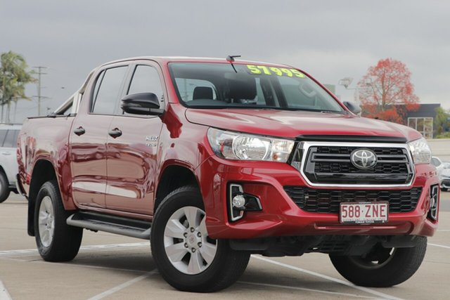 Used Toyota Hilux GUN126R SR Double Cab Albion, 2019 Toyota Hilux GUN126R SR Double Cab Olympia Red 6 Speed Sports Automatic Utility