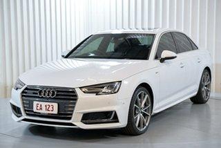 2016 Audi A4 B9 8W MY16 Sport S Tronic Quattro White 7 Speed Sports Automatic Dual Clutch Sedan.