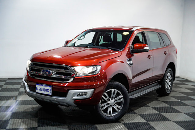 Used Ford Everest UA Trend Edgewater, 2015 Ford Everest UA Trend Red 6 Speed Sports Automatic SUV