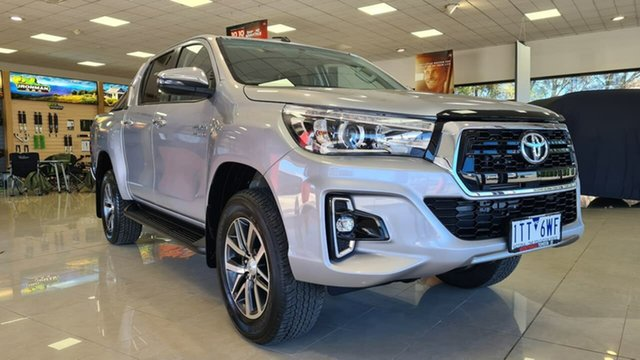 Pre-Owned Toyota Hilux GUN136R SR5 Double Cab 4x2 Hi-Rider Wonthaggi, 2018 Toyota Hilux GUN136R SR5 Double Cab 4x2 Hi-Rider Silver 6 Speed Sports Automatic Utility