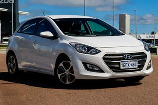 2017 Hyundai i30 GD4 Series II MY17 Active X White 6 Speed Sports Automatic Hatchback.