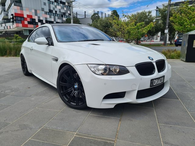 Used BMW M3 E92 M-DCT South Melbourne, 2008 BMW M3 E92 M-DCT White 7 Speed Sports Automatic Dual Clutch Coupe