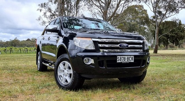 Used Ford Ranger PX XLT Double Cab Nuriootpa, 2014 Ford Ranger PX XLT Double Cab Black/Grey 6 Speed Sports Automatic Utility