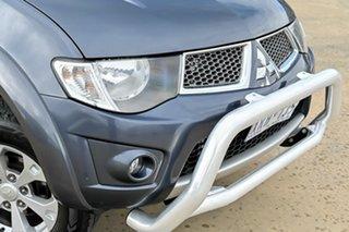 2010 Mitsubishi Triton MN MY10 GLX-R Double Cab Grey 5 Speed Sports Automatic Utility.